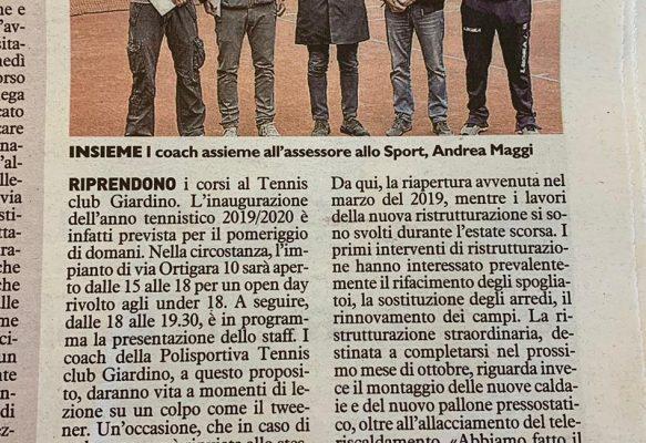 TC Giardino sulla stampa locale!